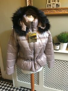 36559bc8 Image is loading ZARA-Pink-Quilted-Jacket-Coat-Fur-Hood-Size-