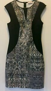 Portmans-Signature-Womens-Black-Dress-Crocodile-Print-with-Back-Zipper-Size-6