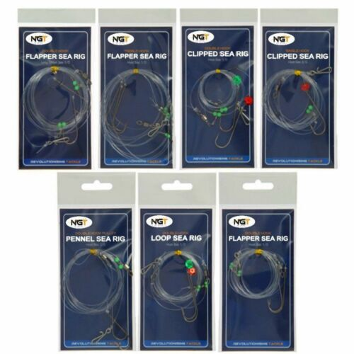 Sea Fishing Rigs 3 hook Flapper 2 hook flapper Pulley  Clipped down Pennel