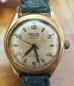 meilleur site web 38347 31aaf Details about Montre vintage homme Relide Swiss plaqué or mecanique 33mm  RefV381