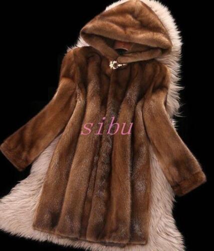 Fur Vintervarme Faux Mink Kvinder Luxury Outdoor Parka Jacket Coat 1wBUxxSqE