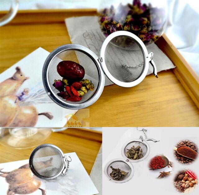 Useful Tea Leaf Strainer Herbal Infuser Filter Diffuser Aluminum Ball New