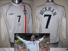 England David Beckham Shirt Jersey Football Soccer Adult XXL LS PSG Man Utd 2002