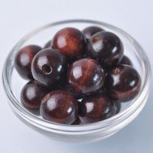 20pcs-20mm-Deep-Brown-Round-Natural-Wood-Loose-Spacer-Beads-Wholesale-Bulk-Lot