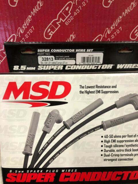 MSD 32813 8.5mm LS1 Black Spark Plug Wire Set Corvette Camaro Z28 Firebird GTO