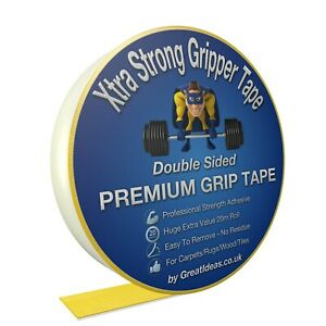 Super-Strong-Double-Sided-Carpet-Rug-Tape-Adhesive-Craft-Gripper-Mesh-Sticky-UK