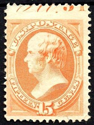 "United States Us Sc# 189 Var *unused H* { ""scarce Pl# Capture"" Error } 15c Webster From 1879 Clients First"