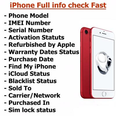 Check Vérifier iPhone info imei Volé Ou Légitime Simlock iCloud / Blacklist  | eBay