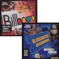 BLOCKBUSTER MOVIE & BILLBOARD MUSIC GUIDES for PC - Rare Vintage Windows NEW!