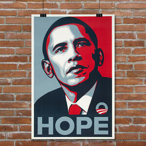 Barack-Obama-Hope-2008-Campaign-Poster-Giclee-039-Canvas-Art-Print