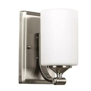 Hampton-Bay-1-Light-Brushed-Nickel-Wall-Sconce-with-Frosted-Opal-Glass-Shade