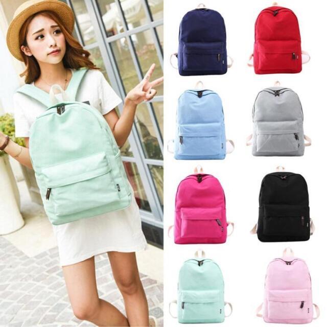 Fashion Women Canvas School Bag Girl Cute Backpack Travel Rucksack Shoulder Bag