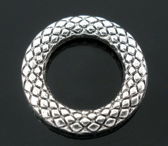 50PCs Silver Tone Soldered Closed Jump Rings 14mm Dia.
