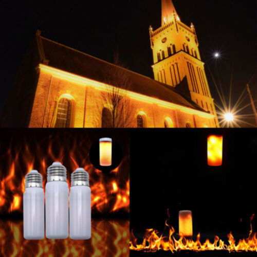 E27 3W LED Burning Light Flicker Flame Lamp Bulb Fire Effect With Gravity Sensor