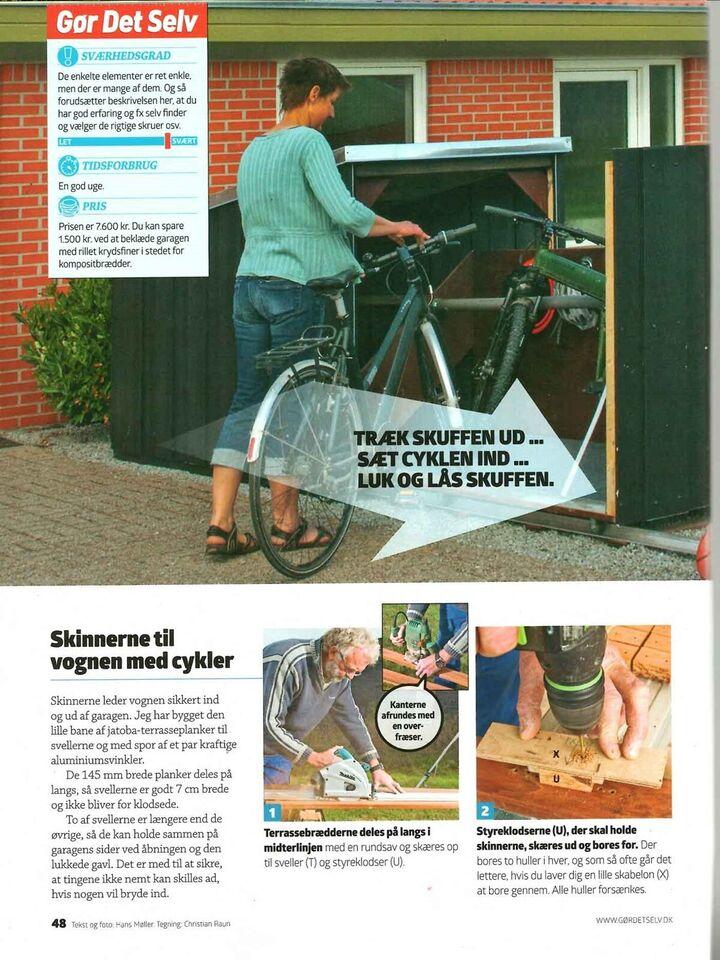 Andet, Cykelskur på skinner