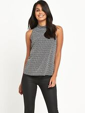 V by Very Womens High Neck Printed Blouse Top Size 20 BNWT RRP £31.99 Black
