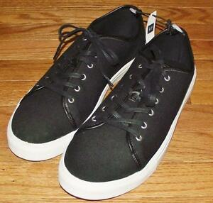 new nwt gap s canvas shoes lace up sneakers black 36