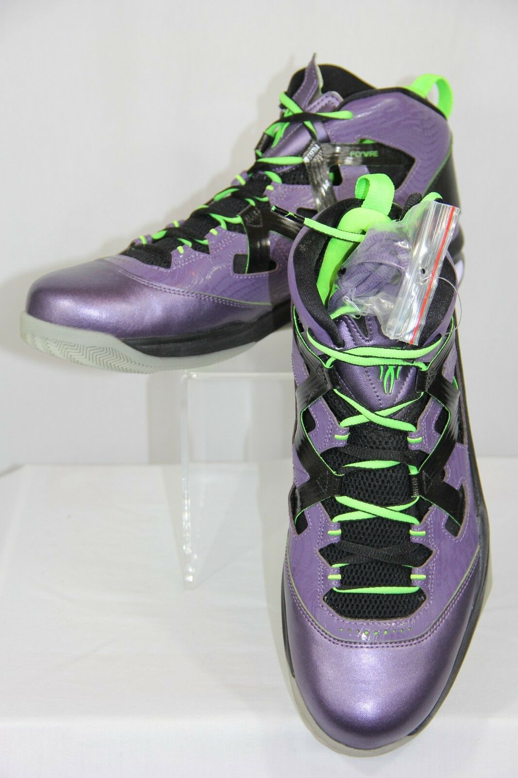 New Nike Jordan Melo M9 Blacklight Basketball Shoes Purple Men Size 11 125