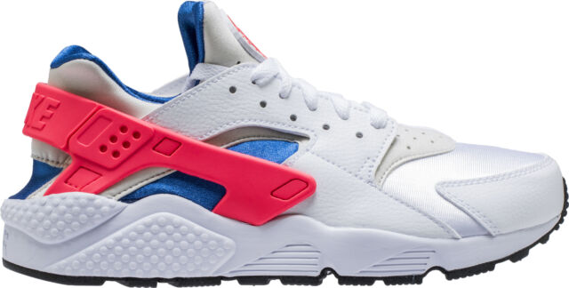 f05d70d729e Mens Nike Air Huarache Run White Ultramarine Solar Red Black 318429 ...