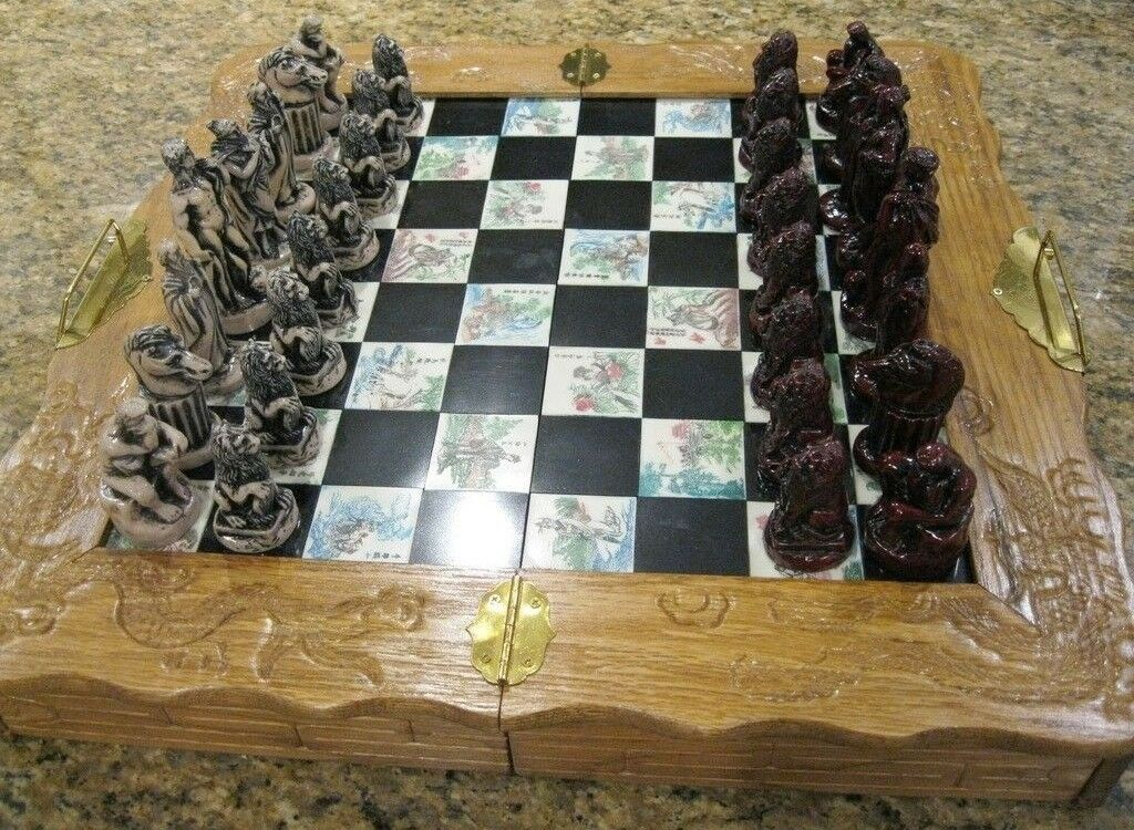 Roman Style Chess Board   Very Nice