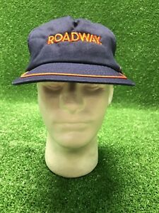 Vintage Roadway Trucking Semi Over The Road Trucker Mover SnapBack Hat Cap