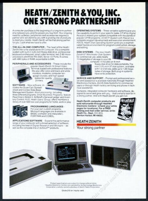 1982 Heathkit Heath Zenith 89 computer system photo vintage print ad