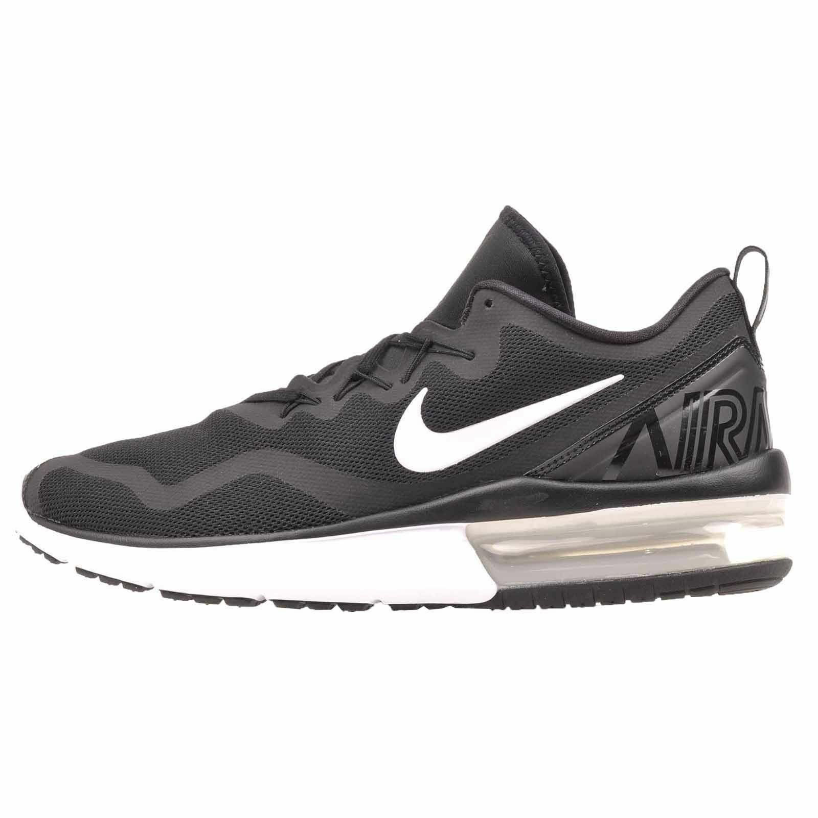 81f2de223c136 Nike Womens 7 Air Max Fury Aa5740 001 Black White Running Casual ...