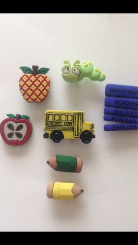 DRESS IT UP BOOKWORM SCHOOL//BUS  LIBRARY BOOKS PENCIL PACKED LUNCH  CRAFT BUTTON