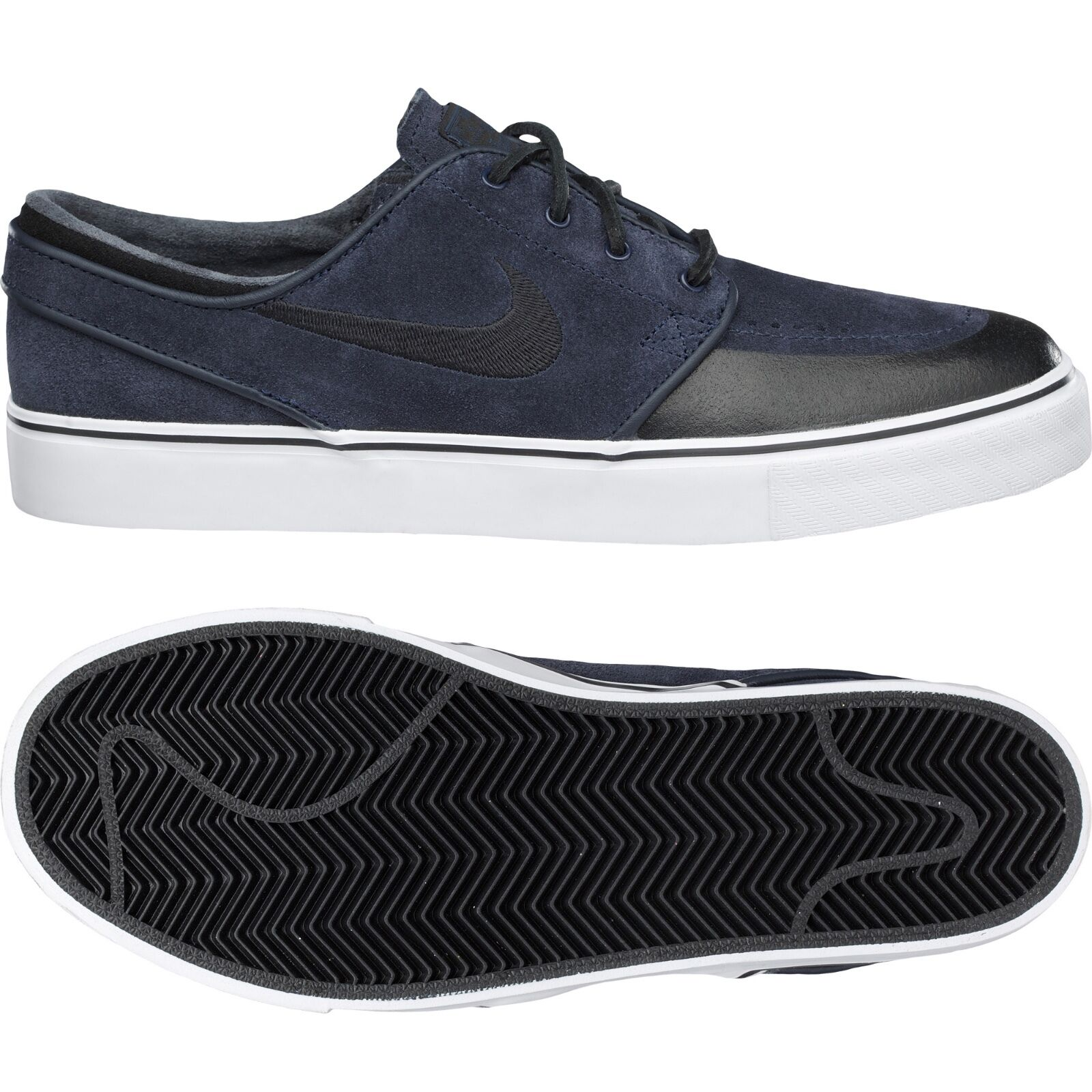 Nike Zoom Stefan Janoski Premium SE 631298-401 Dark Obsidian Black White shoes