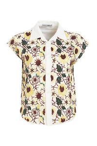 maniche motivo perline floreale con Gabbana Dolce bianco corte 40 a Italia Top Misura con qvwU0wx8I