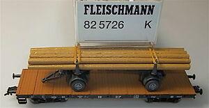 Flachwagen-LANDLICHE-BAHNFRACHT-DB-Ssk-WIKING-Fleischmann-82-5726-K-H0-1-87-LB4