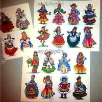 20 Vintage Dolls Of The World Scrapbook Stickers Peel & Stick (no Cutting)