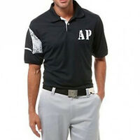 Brand Arnie Arnold Palmer Victory Short Sleeve Solid Pique Polo Black Size L