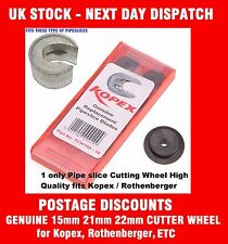 "Kopex Rothenberger UK&IRL Pipe Slice Cutter TCW Wheel 15/21/22/28mm-1/2"" & 3/4"""