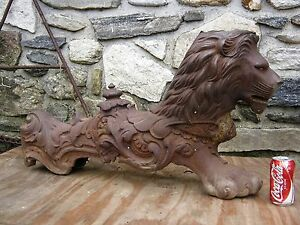 Image Is Loading ANTIQUE ARCHITECTURAL VICTORIAN CAST IRON GARDEN FOO DOG