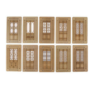 3pcs-Dollhouse-Miniature-Furniture-Accessories-Wooden-Movable-Door-Model-Toy-Hs