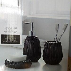 Black-3-piece-Ceramic-Textured-Edge-Bath-room-Accessory-Toilet-bath-room-set