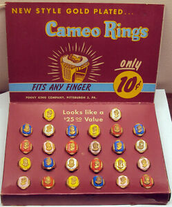 1950-039-s-60-039-s-Penny-King-Rings-In-Counter-Display-Box