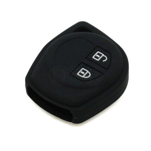 Black Silicone Car Key Cover For Suzuki SX4 Swift Liana Grand Vitara Jimny Alto