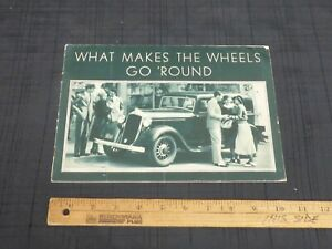 1933-PLYMOUTH-What-Makes-The-Wheels-Go-Round-Greentone-Car-Sales-Brochure