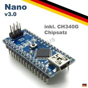 Nano-V3-0-ATmega-328-Board-CH340-USB-Chip-Arduino-Kompatibel