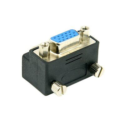 Down Right Angled 90 Degree VGA SVGA RGB 15P Male To Female Adapter