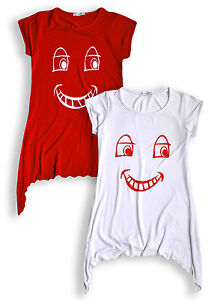 Girls Summer T-Shirt New Kids Red Nose Day Top Ages 5 6 7 8 9 10 11 12 13 Years