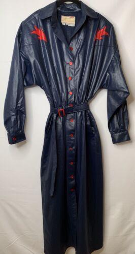 Vintage Tregos Westwear Women's Black Glossy Long