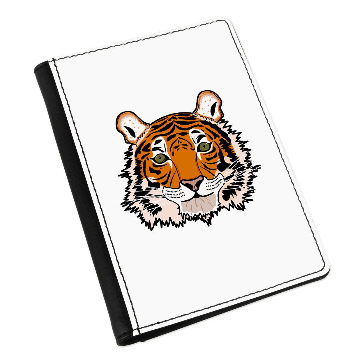 Tiger Face Passport Holder Cover Cover Holder Case Wallet-Funny Animal 57b897