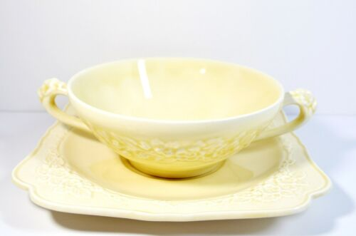 The set of Crown Ducal Soup Bowl and Saucer Gainsborough England 1935