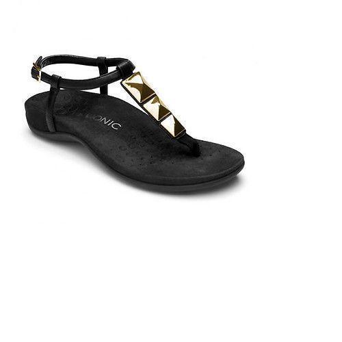 Vionic Nala 340NALA Black Toe Post Sandal Women's Sizes 7-10 100% Original New
