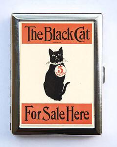 Black cat for sale cigarette case wallet business card holder ebay image is loading black cat for sale cigarette case wallet business reheart Gallery