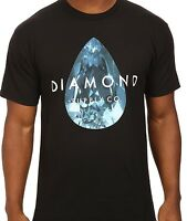 Diamond Teardrop Short Sleeve Black And Blue T-shirt 100% Cotton Tee