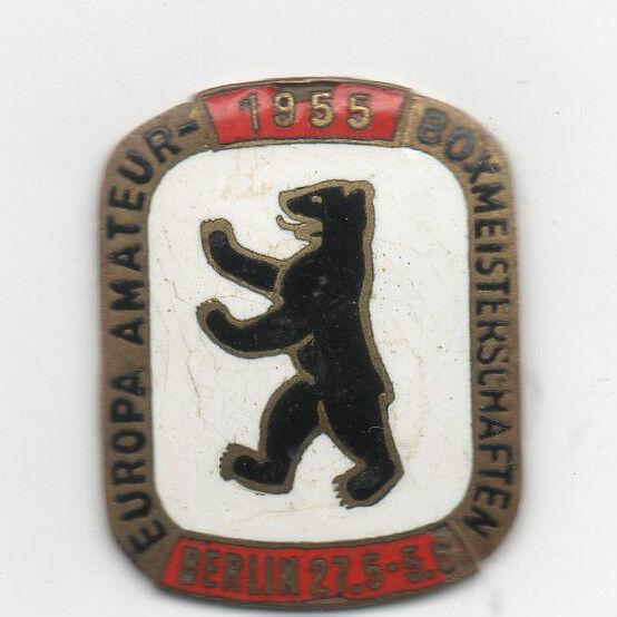 Orig.Teilnehmer Pin    EM im im im Boxen BERLIN 1955      TOP RARITÄT b7f180